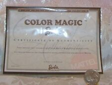 MATTEL COLOR MAGIC REPRO BARBIE DOLL CERTIFICATE OF AUTHENTICITY COA ONLY