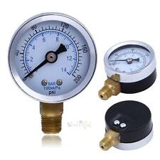 "1/8"" NPT Air Compressor Hydraulic Pressure Gauge 0-200 PSI Side Mount 1.5"" Face"