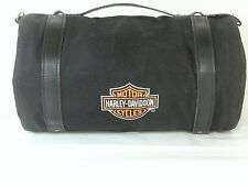 Harley Davidson Round Barrel Storage/Tool Bag w/Multitool, Flashlight, Blanket