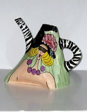 Character Collectibles Corporation Signed Linda Carneelle Ceramic Picher