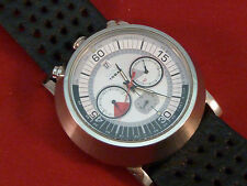 Diesel Bullhead Chronograph Watch Men's DZ 4017 Water Resistant Leather Strap