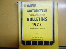 1973 Yamaha Motorcycle Parts & Service Bulletin