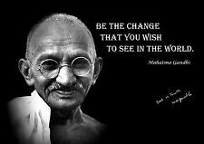 MAHATMA GANDHI MOTIVATIONAL.. QUOTE MOTIVATIONAL  POSTER / PRINT / PICTURE