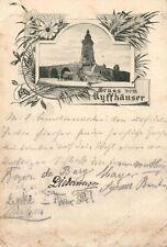 9298/ Foto AK, Jugendstil, Gruss vom Kyffhäuser, 1898