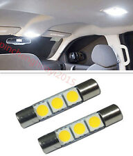 2P Xenon White 3-SMD 29mm 6641 Fuse LED Bulb Vanity Mirror Light Sun Visor Lamp