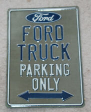 FORD TRUCK Parking Only Embossed Metal Vintage Style Signs Auto Garage Man Cave