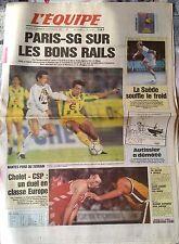 L'Equipe Journal du 3-4/12/1994; Cholet-CSP/ Nantes et Paris/ Lens/ Autissier