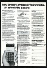 1977 Sinclair Cambridge Programmable computer calculator photo vintage print ad