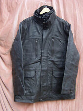 BNWT MENS LTD ED BUFFALO LEATHER LUXURY LINED JACKET / COAT IN DARK BROWN UK MED