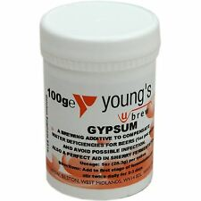 Calcium Sulphate Gypsum 100g Youngs  - Home brew Beer & Wine Making Chemicals