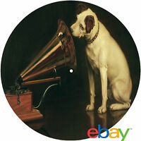 """Record Collector's His Masters Voice """"Nipper"""" 12"""" inch TURNTABLE platter MAT"""