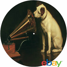"Record Collector's His Masters Voice ""Nipper"" 12"" inch TURNTABLE platter MAT"