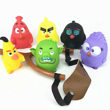 Angry Birds Figures Attack Slingshot Shooting Flip Bird Game Kids Boy Girl Toy