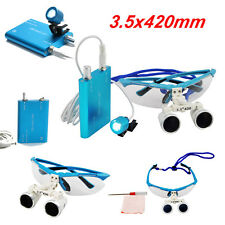 FDA Blue LED Head Light Lamp and Dental Surgical Medical Binocular Loupes