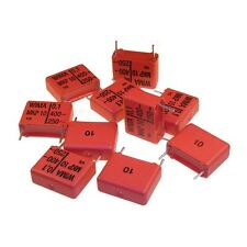 10 WIMA impulso POLIPROPILENE fissa diapositive CONDENSATORE mkp10 400v 0,1uf 15mm 089718