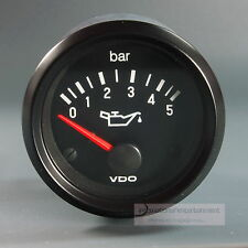 VDO OELDRUCK INSTRUMENT *LED EDITION*  MANOMETER PRESSURE 5 bar GAUGE 12V  52mm