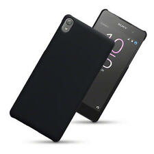 Slim Armour Hard Rubber Back Case Cover for Sony Xperia E5 - Black