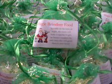 CHRISTMAS EVE MAGIC REINDEER FOOD IN GREEN ORGANZA GIFT BAGS *CLEARANCE*