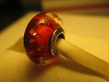 Authentic Sterling Silver 925 ALE Red Effervescence Pandora Murano Bead Charm