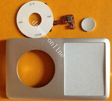 Silver front cover+ Clickwheel Central Button for iPod Classic 6th 7th 160GB