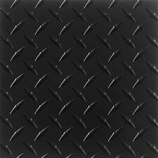 ".063 Matte Black Powdercoated Aluminum Diamond Plate Sheet 16"" x 48"""
