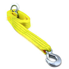 "2""x20' Tow Strap With Forged Hooks 2""x 20' 10000LBS Towing Rope Auto Boat Car"