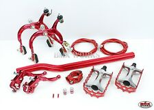 MX1000 - MX121 Tech 3 Package Deal In Red - Old School BMX - Dia Compe