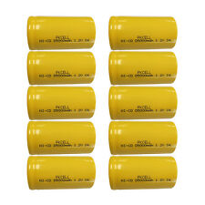 10pcs D Size Ni-Cd Batteries 5000mAh 1.2V NiCd Rechargeable Battery  PKCELL