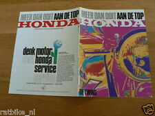 071 HONDA VINTAGE BROCHURE TWINS AAN DE TOP DUTCH 8 PAGES,CX500,CB400A,CB125T,