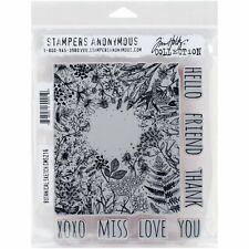 Stampers Anonymous Tim Holtz Cling Montato Stamp Set Disegno botanico cms216 R