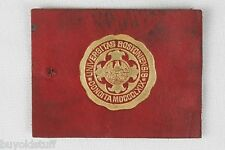ANTIQUE 1910 BOSTON UNIVERSITY College Leather Patch Seal Tobacco Premium