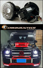 1990-09 Mercedes W463 G-CLASS G-Wagen BLACK Projector Headlights w/ LED DRL LHD