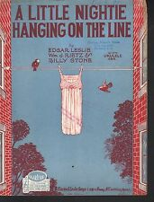 A Little Nightie Hanging on the Line 1926 Sheet Music