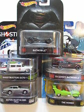 HOT WHEELS RETRO ENTERTAINMENT 2016 SET OF 5 GHOSTBUSTERS BATMOBILE THE HOMER