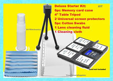 11 pc CLEANING STARTER KIT CARD CASE TRIPOD OLYMPUS SP-500UZ E-5 PM2 P1 P2 P3 P5