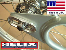 "DROPOUT SAVERS by HELIX BMX - Fits CRO-MO STEEL Frames w/ 3/8"" Axles"