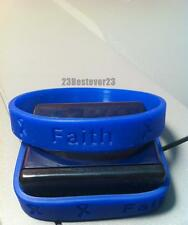 25 Dark Blue Colon Cancer Awareness Silicone ADULT Bracelet Colorectal Wristband