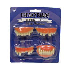 Fake Teeth Halloween Fancy Dress Freaky Fangs Vampire Zombie Wolfman Hellhound