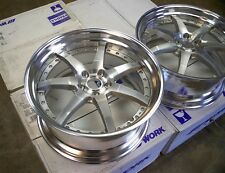 "JDM 20"" WORK GNOSIS VIP Wheels Rims 5x114.3 STEP LIP STAGGERED G35 350Z G37 M35"