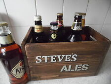 Beer Crate Personalised Christmas Gift For Him Vintage Style Handcrafted Present