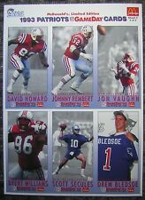 1993 McDonald's Limited Edition N.E. Patriots GameDay Card Set - Bledsoe Rookie