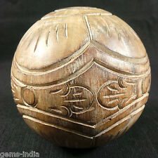 1645 CT Wooden Round Ball Rare Design handmade Home Decorative gifts #Gems-India