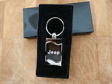 JEEP CJ WRANGLER CHEROKEE  AU-TOMOTIVE GOLD - BLACK WAVE JEEP LOGO KEYRING