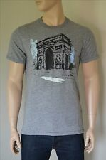 NEW Abercrombie & Fitch Travel Tee Grey Paris France Arc De Triumph T-Shirt M