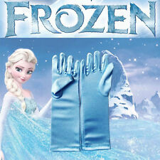 Pretty Kids Fancy Disney Blue Golves Frozen Elsa princess Girl Gloves Santa Gift