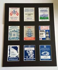 """SHEFFIELD WEDNESDAY RETRO POSTERS 14"""" BY 11"""" PICTURE MOUNTED READY TO FRAME"""