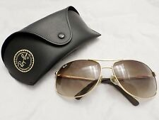 RAY BAN 3784AB authentic gold metal large wraparound w/case sunglasses