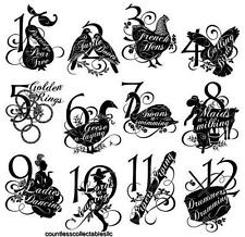The Twelve Days of Christmas # 2 Graphic 45 Hampton Art Cling Red Rubber Stamp