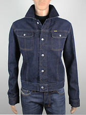 Diesel mens Size L XL short blue denim jacket