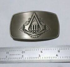 AC 3 III Assassin's Creed 3 III Limited Edition Connor belt buckle BRAND NEW